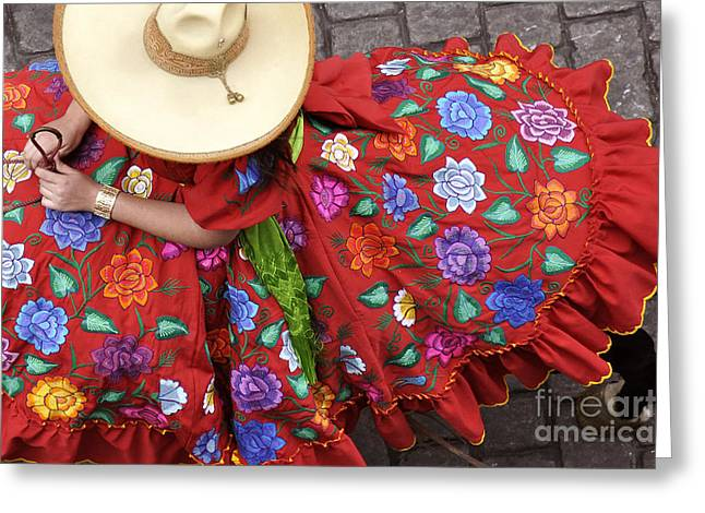 Charro Hat Greeting Cards - Escaramuza Charra Greeting Card by Kristine Celorio