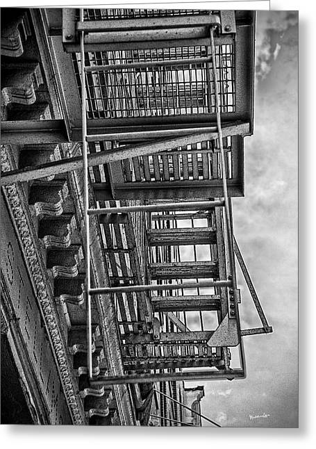 New York City Fire Escapes Greeting Cards - Escher Escape Greeting Card by Madeline Ellis