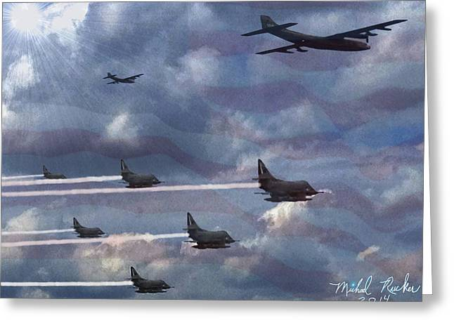 Fighter Jets  Greeting Card by Michael Rucker