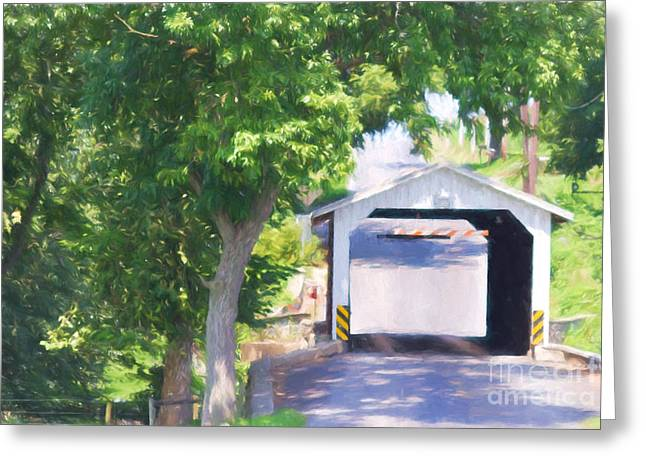 Paradise Road Greeting Cards - Eshelmans Mill Bridge Greeting Card by Terry Weaver