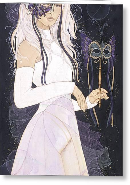 Night Scenes Pyrography Greeting Cards - Esmarelda Greeting Card by Christine Garner