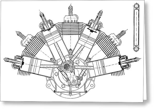 Esnault-pelterie Airplane Engine Greeting Card by Science Photo Library
