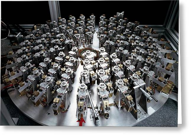 Eso Active Optics Experiment Equipment Greeting Card by European Southern Observatory