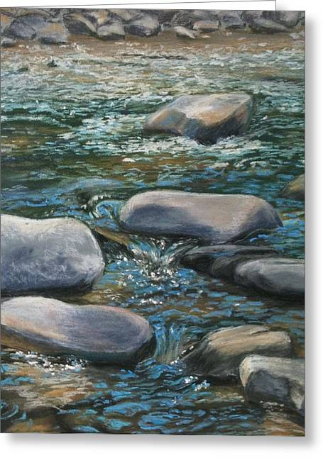 Creek Pastels Greeting Cards - Esopus Creek Greeting Card by Andrea Scheffel