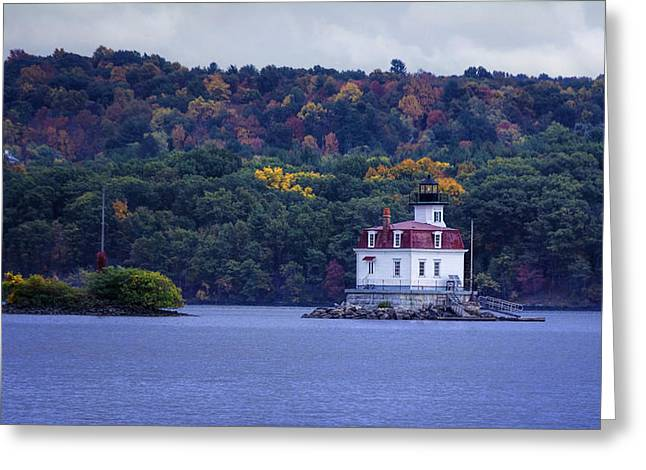 Navigational Greeting Cards - Esopus Meadows Lighthouse Greeting Card by Joan Carroll