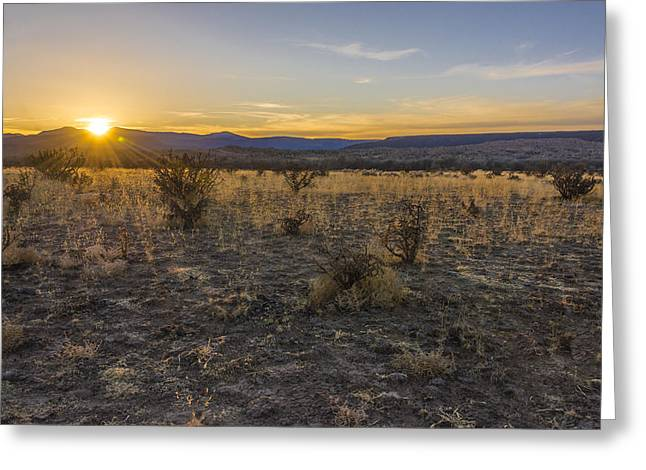 Brian Harig Greeting Cards - Espanola Sunset - New Mexico Greeting Card by Brian Harig