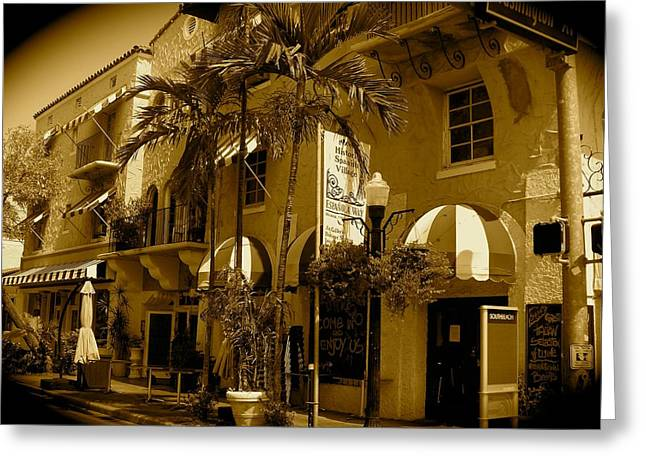 Florida House Greeting Cards - Espanola Way Miami South Beach Greeting Card by Monique Wegmueller