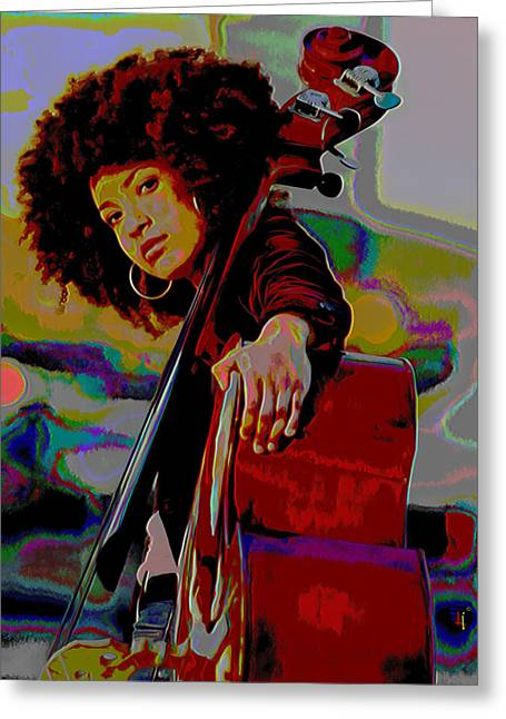 Print On Canvas Greeting Cards - Esperanza Spalding Greeting Card by  Fli Art