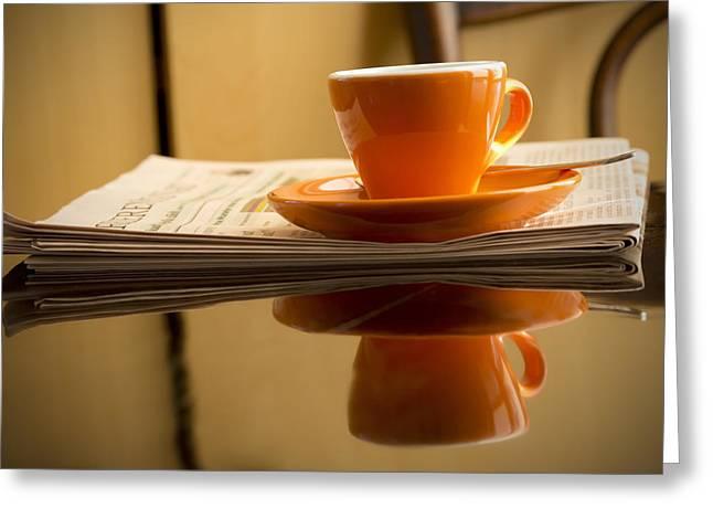 Italian Restaurant Greeting Cards - Espresso Greeting Card by Chevy Fleet
