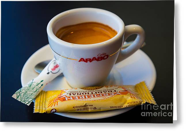 Biscotti Greeting Cards - Espresso Greeting Card by Inge Johnsson