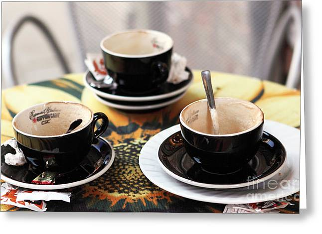 Espresso Prints Greeting Cards - Espresso Greeting Card by John Rizzuto