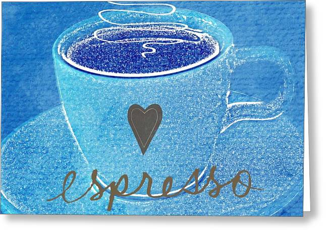 Espresso Art Greeting Cards - Espresso Greeting Card by Linda Woods
