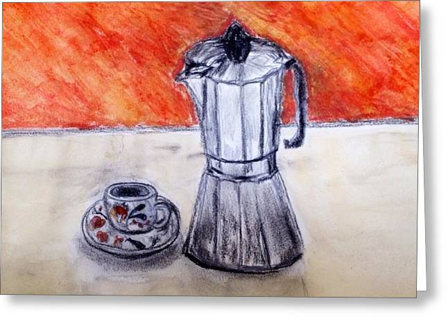 Tassels Drawings Greeting Cards - Espresso  Greeting Card by Ursula Sellitto