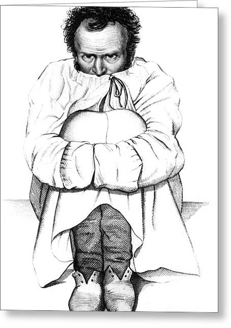 Mental Institution Greeting Cards - Esquirol Patient, Dementia, 1838 Greeting Card by Science Source
