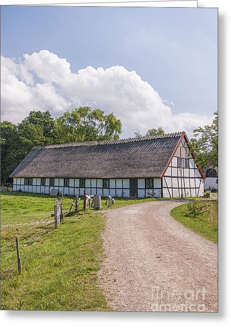 Kloster Greeting Cards - Esrum Kloster Old Barn Rear Greeting Card by Antony McAulay