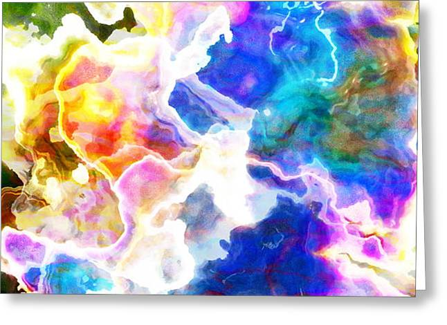 Abstract Prints For Sale Greeting Cards - Essence - Abstract Art Greeting Card by Jaison Cianelli