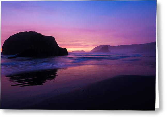Oregon Coast Greeting Cards - Essence Greeting Card by Chad Dutson