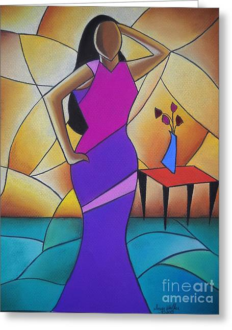 African-american Pastels Greeting Cards - Essence of a Woman II Greeting Card by Sonya Walker