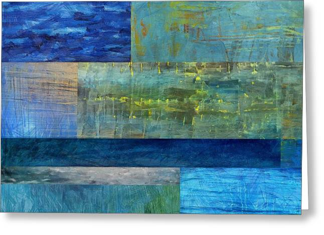 Essence Of Blue 2.0 Greeting Card by Michelle Calkins