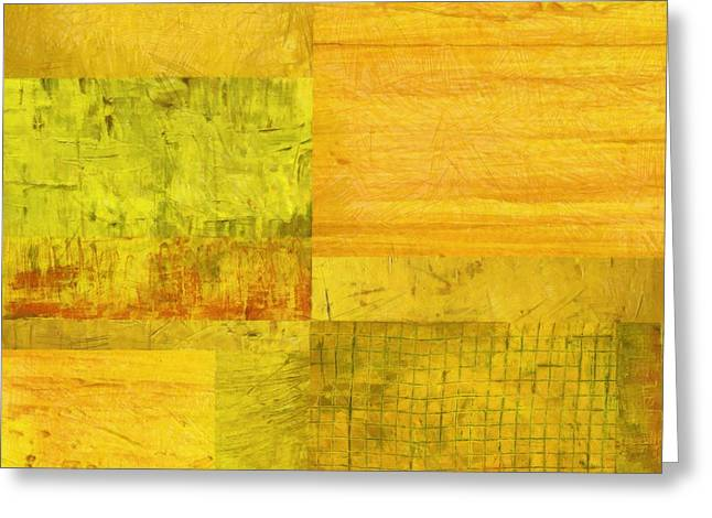 Geometric Design Greeting Cards - Essence of Yellow 2.0 Greeting Card by Michelle Calkins
