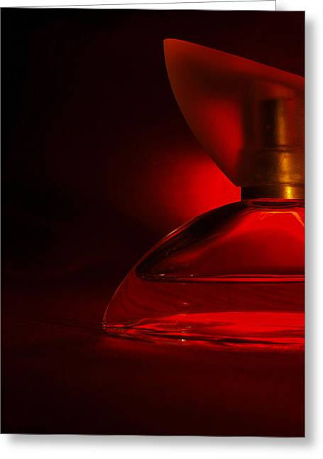 Red Glass Greeting Cards - Essence Greeting Card by Tom Druin