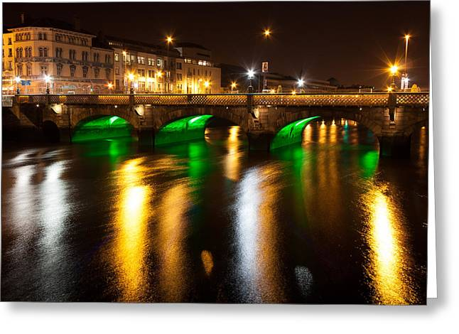 Convention Greeting Cards - Essex Bridge in Dublin City Greeting Card by Semmick Photo