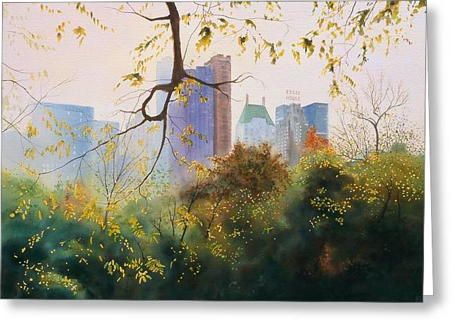 Park Scene Paintings Greeting Cards - Essex House Greeting Card by Daniel Dayley