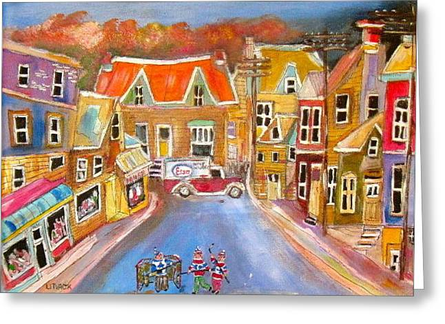 Litvack Greeting Cards - Esso Delivery Greeting Card by Michael Litvack
