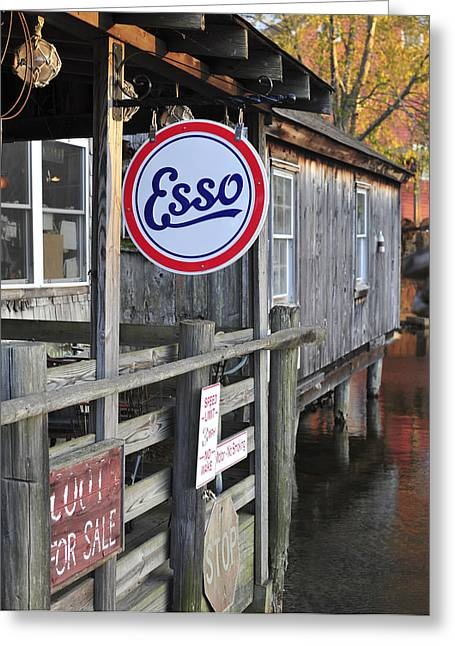 Esso Greeting Cards - Esso Smithville New Jersey Greeting Card by Terry DeLuco
