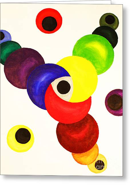 Strategy Paintings Greeting Cards - Established Brand Strategy Greeting Card by Christine  Dekkers