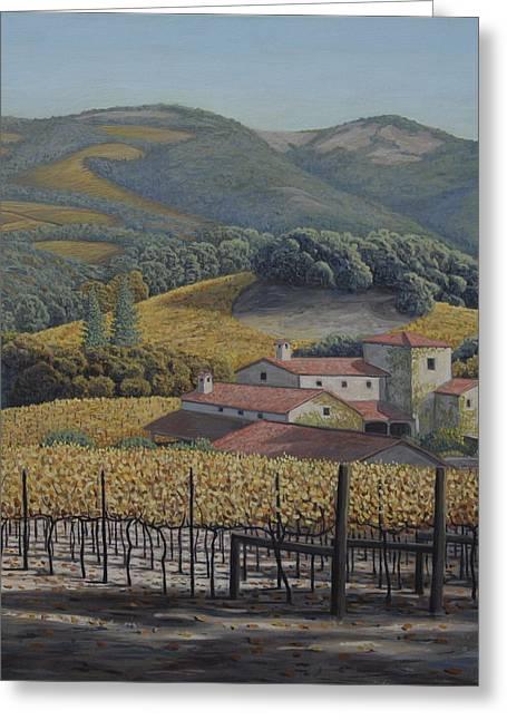 Estate Vineyards Greeting Card by James English Babcock
