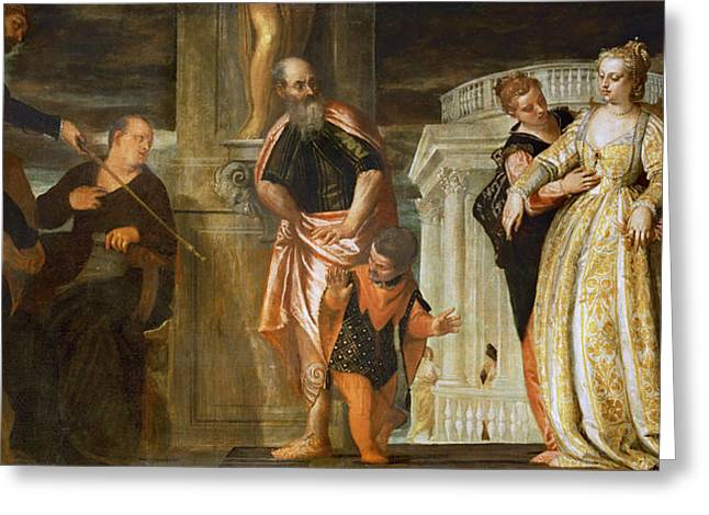 Esther Greeting Cards - Esther before Ahasuerus Greeting Card by Paolo Veronese