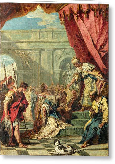 Esther Greeting Cards - Esther before Ahasuerus Greeting Card by Sebastiano Ricci