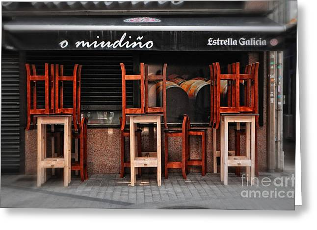 Galicia Greeting Cards - Estrella Galicia Greeting Card by Mary Machare