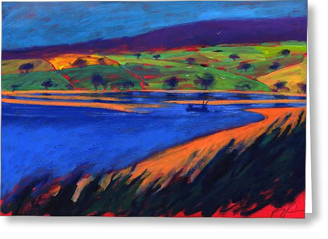 Fishing Greeting Cards - Estuary, 2007 Acrylic On Board Greeting Card by Paul Powis