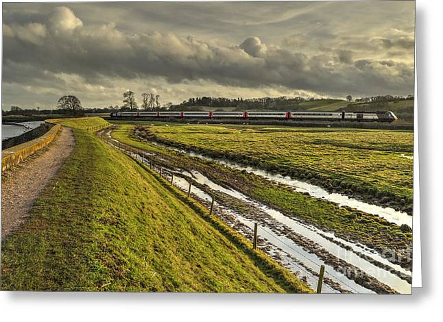 Cross Country Greeting Cards - Estuary HST  Greeting Card by Rob Hawkins