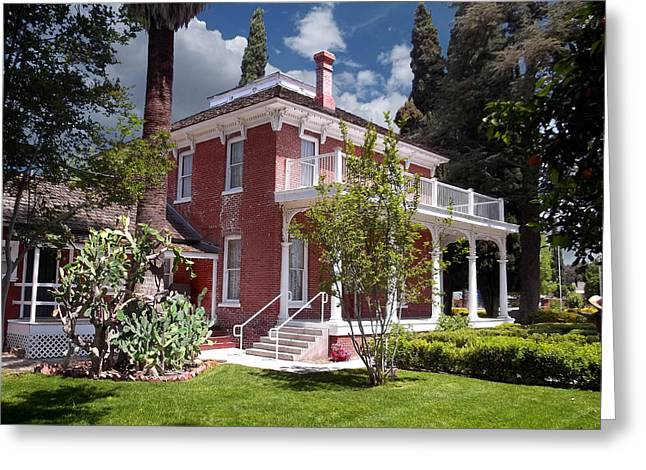 Historical Pictures Greeting Cards - Estudillo Mansion- Garden View Greeting Card by Glenn McCarthy Art and Photography