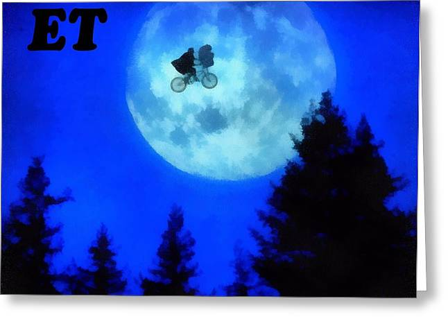 The 80s Greeting Cards - ET The Extra Terrestrial Greeting Card by Dan Sproul