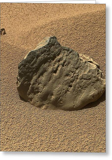 Et-then Rock, Mars, Curiosity Image Greeting Card by Science Photo Library