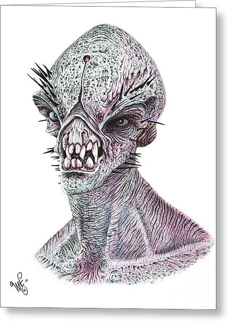 Wave Art Drawings Greeting Cards - E.t. Greeting Card by Wave
