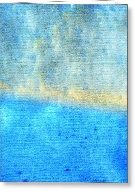 Turquoise Pastel Greeting Cards - Eternal Blue - Blue Abstract Art By Sharon Cummings Greeting Card by Sharon Cummings