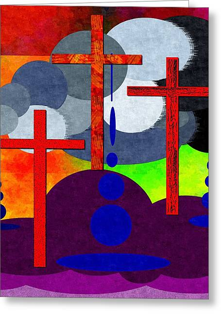 Yeshua Greeting Cards - Eternal Consequences Greeting Card by Glenn McCarthy Art and Photography