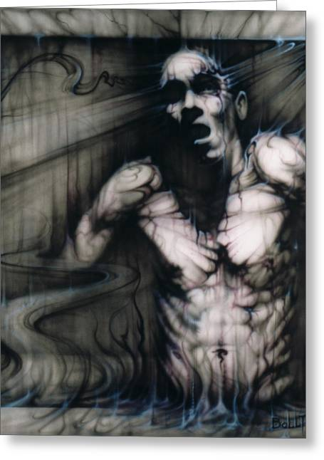 Male Torso Greeting Cards - Eternal Greeting Card by David Bollt