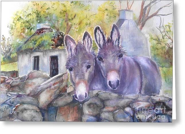 Irish Farm Greeting Cards - Eternal Echoes Greeting Card by Patricia Pushaw