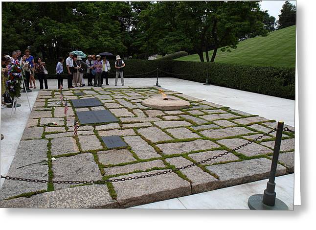 Eternal Flame - Arlington National Cemetery - 01131 Greeting Card by DC Photographer
