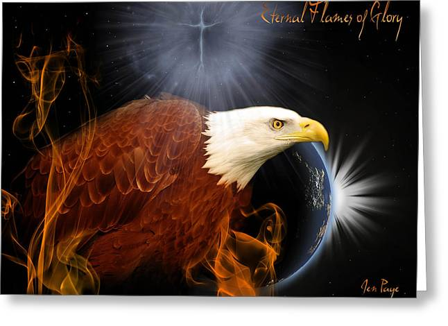 Eternal Inspirational Greeting Cards - Eternal flames of Glory Greeting Card by Jennifer Page