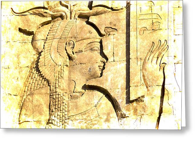 Hathor Greeting Cards - Eternal Goddess Isis Greeting Card by Brenda Kean