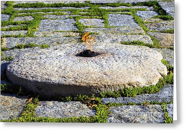 Eternal Flame Greeting Cards - Eternal JFK Greeting Card by Paul W Faust -  Impressions of Light