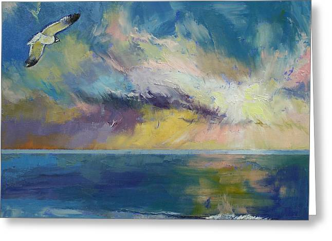 Sea Gulls Greeting Cards - Eternal Light Greeting Card by Michael Creese