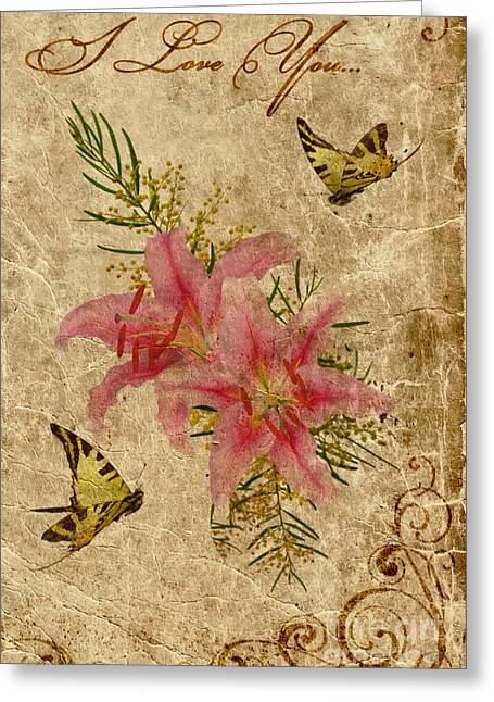 Eternal Love Message Greeting Card by Olga Hamilton